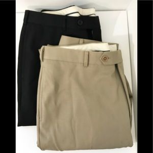 Brooks Brothers Lot/2 Madison Pants Navy & Khaki
